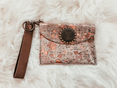 Make You Blush Cowhide Wristlet