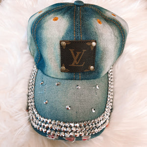 Denim & Bling LV Hat