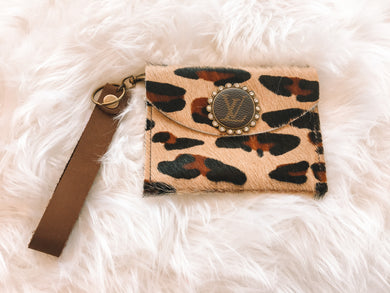 On Your Own Cowhide Wristlet