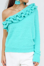 Load image into Gallery viewer, Cozy and Comfy Ruffled Sweater