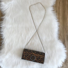Load image into Gallery viewer, Let it Be Crystal Clear Leopard Clutch