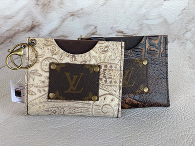 Repurposed LV Card Holders
