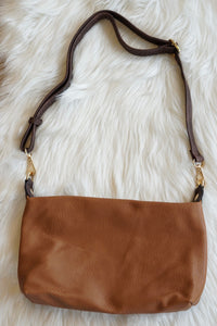 Leather & Brown LV Purse