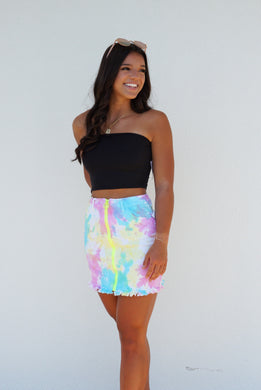 A Ray Of Sunshine Tie Dye Skirt