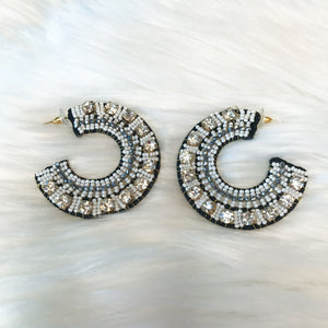 Multi Beaded Flat Hoops