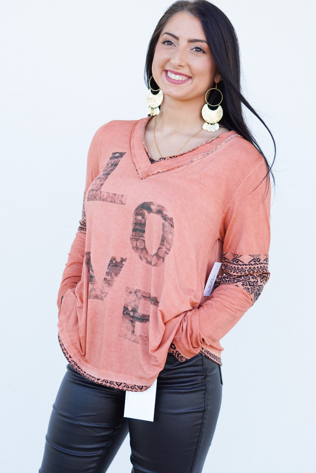 Love Me Long Sleeve Top