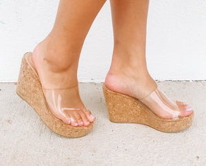Sweet Magnolias Cork Wedge