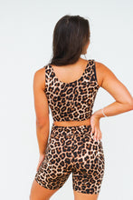 Load image into Gallery viewer, Leopard print crop set