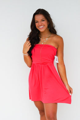 Tube strapless mini dress