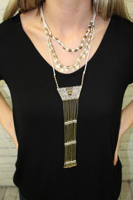 Bohemian Layered Tassel Statement Necklace - Breazy's Boutique