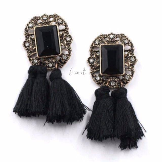 Pom Pom Earrings - Breazy's Boutique