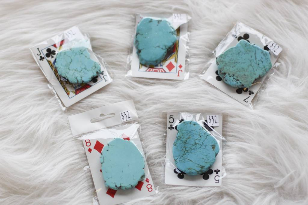Big Turquoise Slab Pop Sockets - Breazy's Boutique