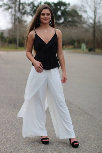 Layered Flowy Dress Pants - Breazy's Boutique