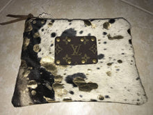 Load image into Gallery viewer, Cowhide Acid Wash Makeup Bag - Breazy's Boutique