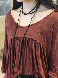 Leather Wrap Necklace - Breazy's Boutique