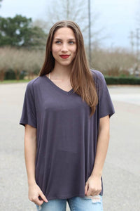 Basic Vneck Tee - Breazy's Boutique