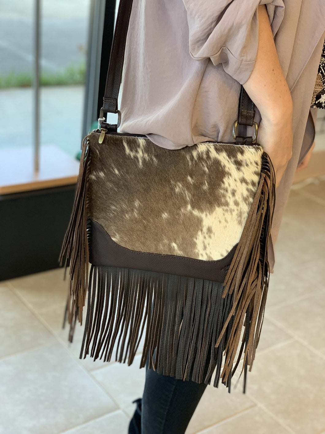 Strap Crossbody W/ Fringe - Breazy's Boutique