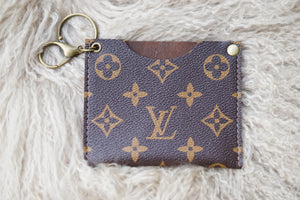 Lv Keychain Card Holder