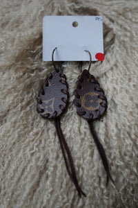 Small Lv Fringe Earrings - Breazy's Boutique