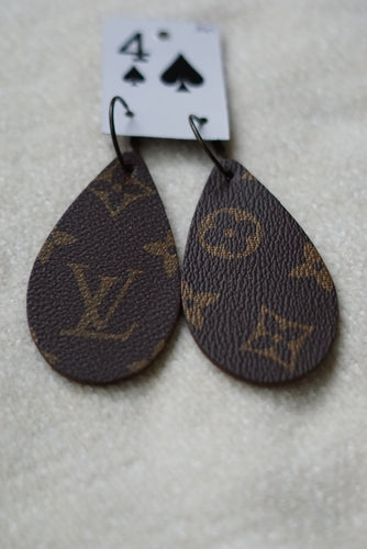 Louis Vuitton Large Teardrop Earrings - Breazy's Boutique