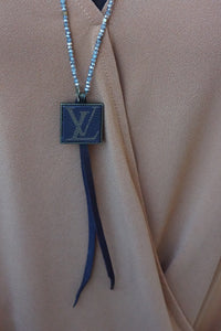 Small Bead Lv Necklace - Breazy's Boutique