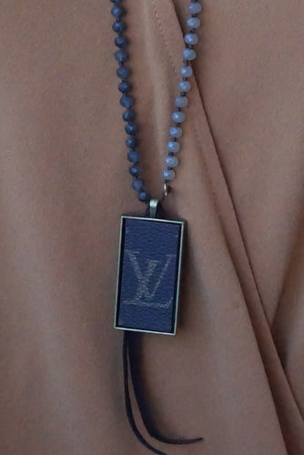 Grey Mix Lv Necklace - Breazy's Boutique