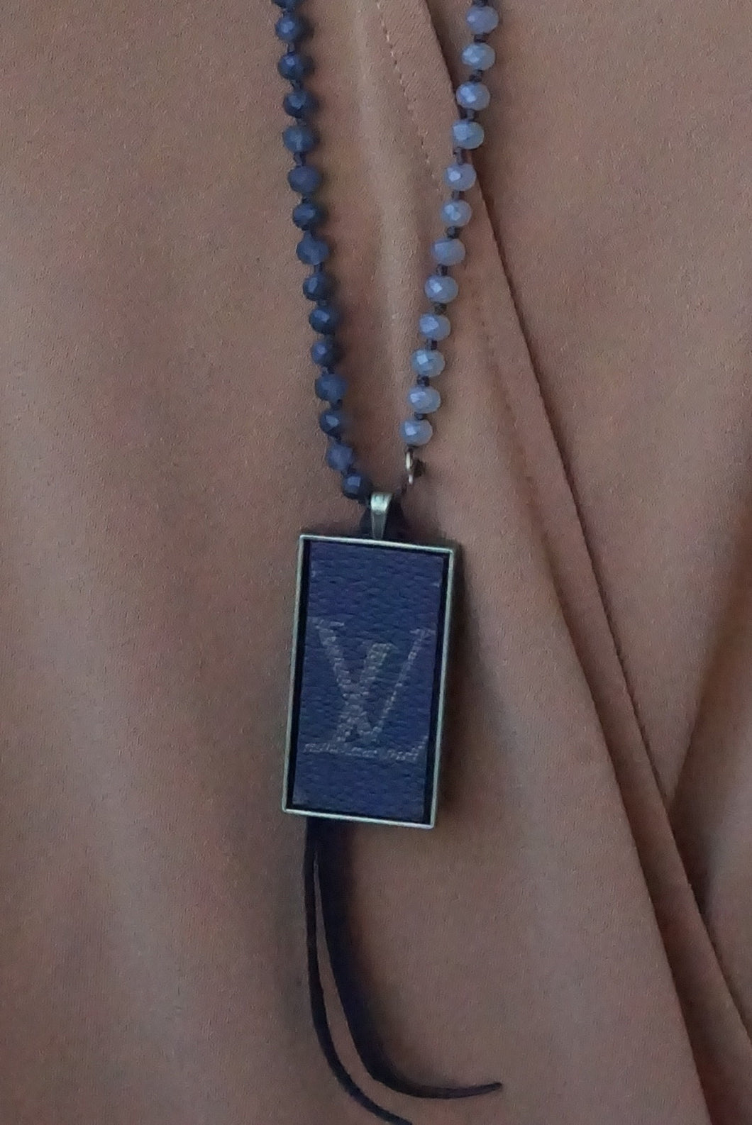Grey Mix Lv Necklace