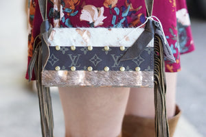 Acid Wash Hide Crossbody - Breazy's Boutique