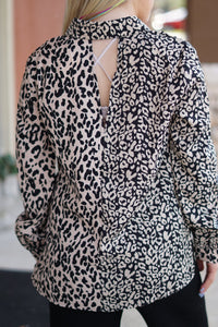 Mixed Animal Print Blouse - Breazy's Boutique