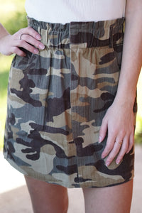 Camo Skirt - Breazy's Boutique