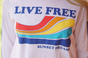 Live Free Graphic Long Sleeve Tee - Breazy's Boutique