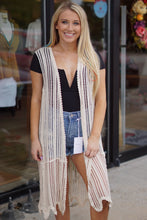 Load image into Gallery viewer, Sleeveless Crochet Kimono - Breazy's Boutique