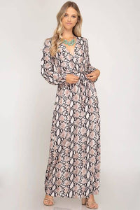 Snake Maxi Dress - Breazy's Boutique