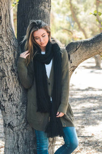 Oversized Tassel Scarf - Breazy's Boutique