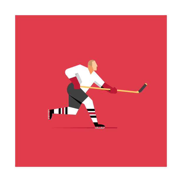 Bobby Hull Chicago Blackhawks Art Print
