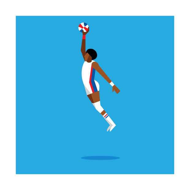 Dr. J New York Nets Art Print