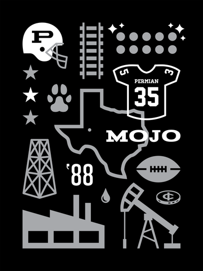 Friday Night Lights Art Poster