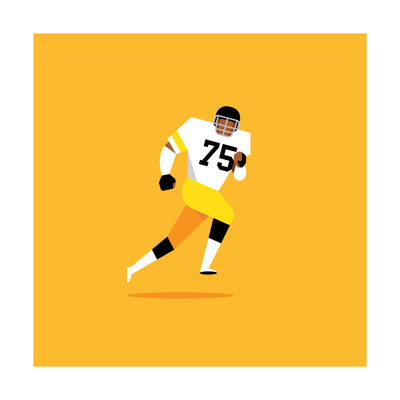 Joe Greene Pittsburgh Steelers Art Print