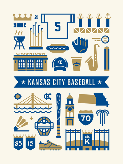 Kansas City Royals Art Poster