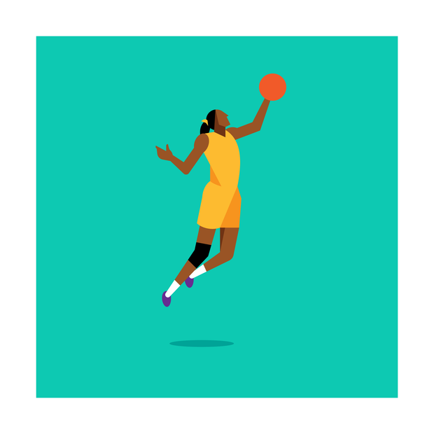 Lisa Leslie Los Angeles Sparks Art Print
