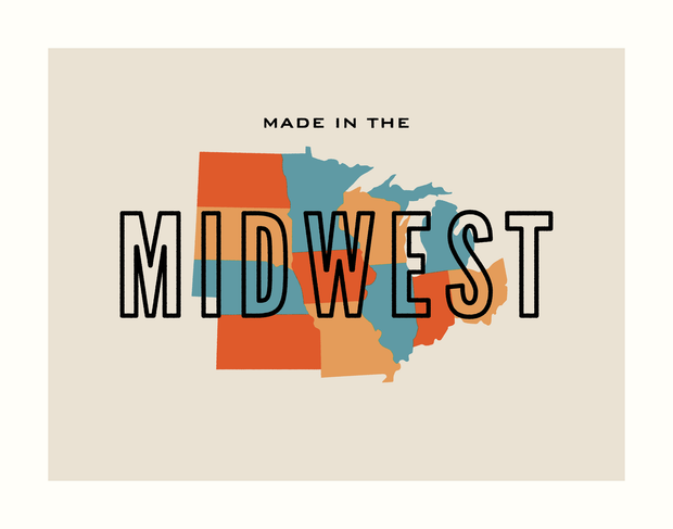 Made in the Midwest Art Print