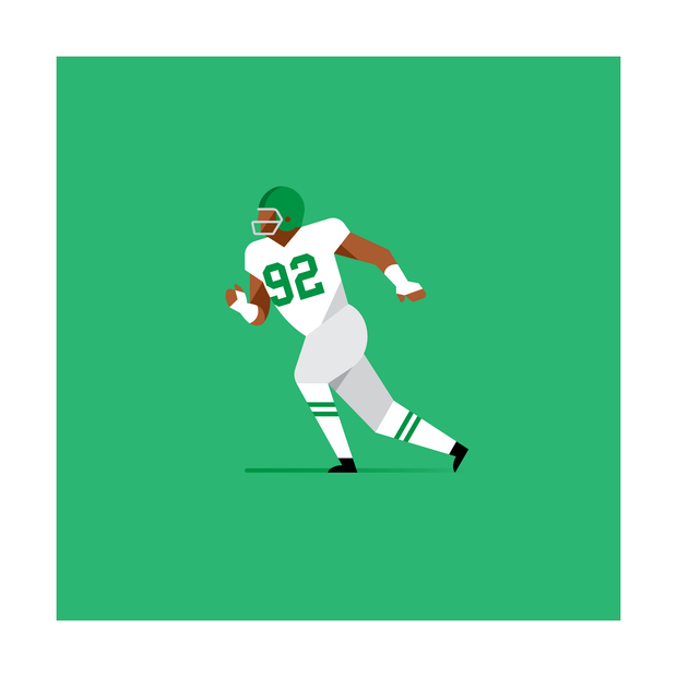 Reggie White Philadelphia Eagles Art Print