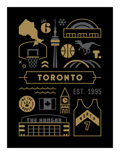 Toronto Raptors Basketball Art Poster