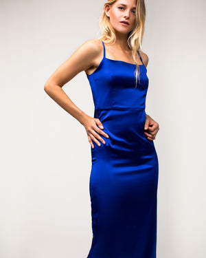 Morgan Dress Royal Blue