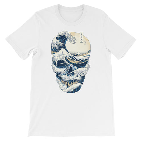 Japanese Style The Great Wave Off Skull