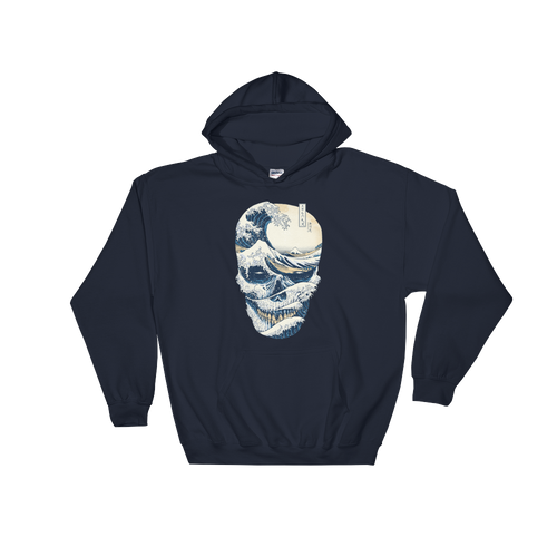Japanese Style The Great Wave Off Skull Hoodie