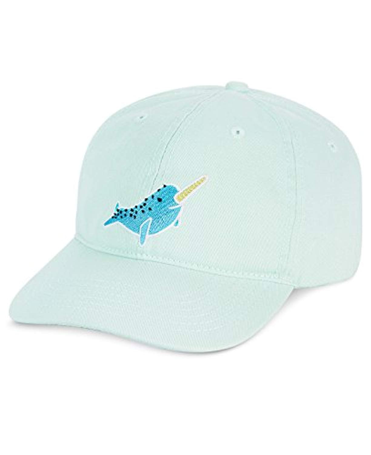 Celebrate Shop Narwhal Embroidered Baseball Cap, Mint Green (One Size)  Write Review