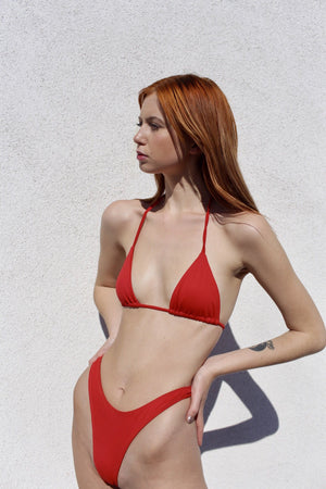 ZANIA THONG BIKINI BOTTOM - RED