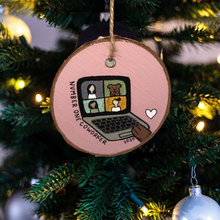 "Load image into Gallery viewer, ""Number One Coworker"" Birchwood Ornament"