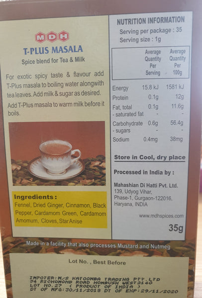 T-PLUS (TEA) MASALA, MDH, 35G